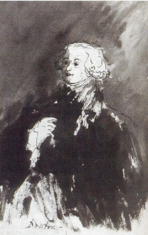 """Mikhail Sokolov, """"Danton [Дантон],"""" from Figures of the 1789 French Revolution (1930-1934)"""