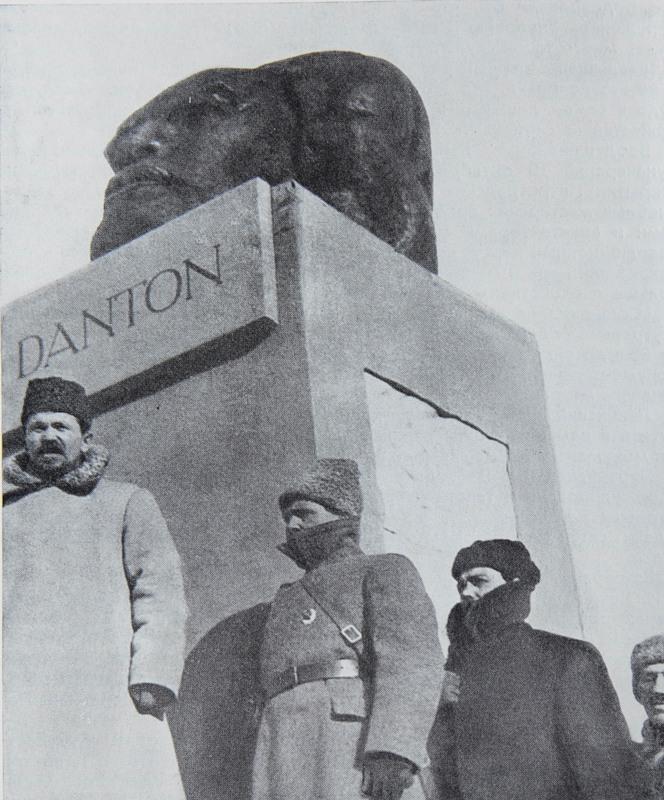 "Unveiling of Nikolai Andreev's ""Head of Danton"" (1919) «Голова Дантона», 1919 г. Н. Андреев"