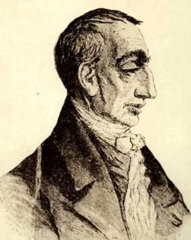 Historical depiction of Claude Henri de Rouvroy, comte de Saint-Simon