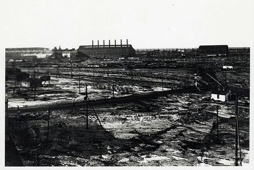 Magnitogorsk blast furnace under construction 1931