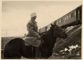 Niegemann on horseback in Siberia