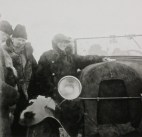 Wilhelm Kratz and Wilhelm Hauss with driver, Siberia 1931 (photo by Ernst May)