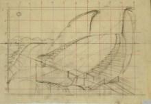 Hugh Ferriss' lunar amphitheater (late 1950s)