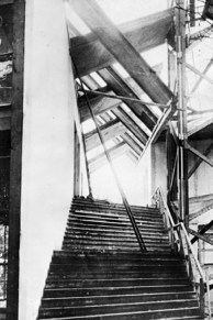 Staircase to Mel'nikov's Soviet Pavilion in Paris, 1925