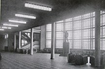 The Vesnins' ZIL Palace interior with Lenin statue, 1937
