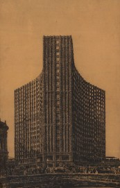 Competition entry for a highrise in Berlin (1922), Hans Poelzig