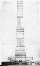 G. Kochar, Diploma project on the theme of the House of Unions, studio of Nikolai Dokuchaev (1929), profile view