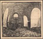 Hans Poelzig (1869-1936) Schloss Carolath bei Beuthen:Oder. Kapellenanbau (1913-1913) Innenansicht Druck Druck auf Papier 81,00 x 88,00 cm Inv.-Nr. 2683