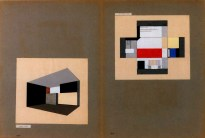 Heinrich Koch, Wall-painting schemes for the studio and living room of Oskar Schlemmer's Master House, Dessau, designed by Walter Gropius 1926