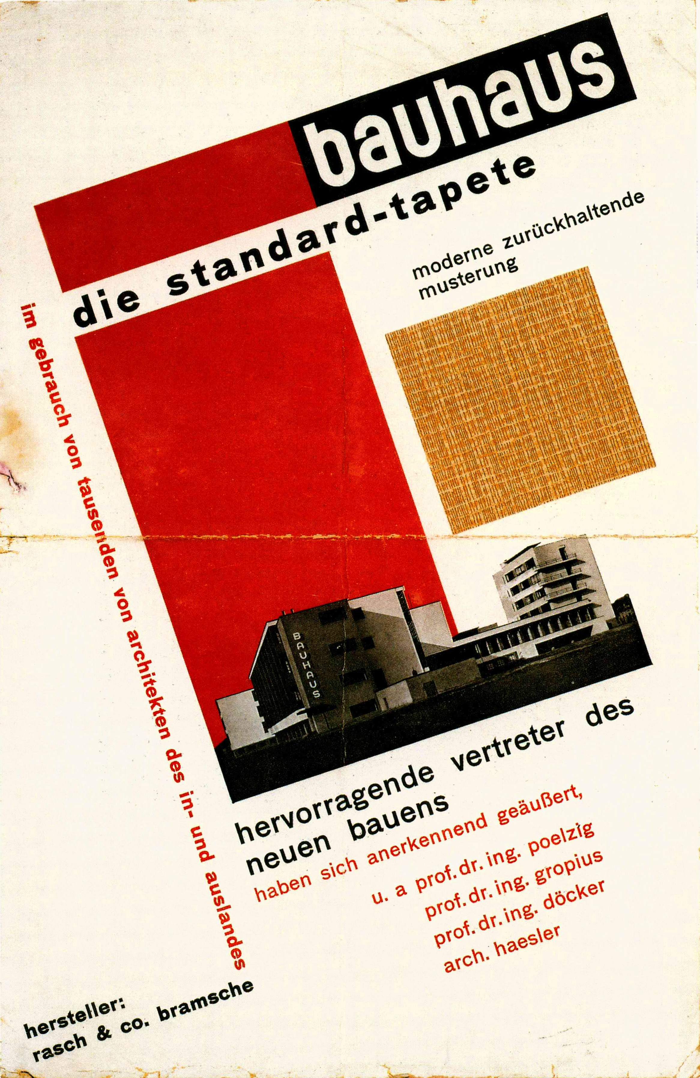Herbert Bayer, Invitation to the inauguration of the Bauhaus building, designed by Walter Gropius, for December 4-5 1926, letterpress on paper 14.4x34.9cm