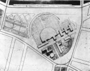 Lidiia Komarova, Diploma project on the theme of the Comintern building, studio of Nikolai Dokuchaev 1929, general plan overview