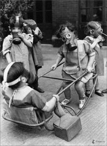 Children Play Wearing Gas Masks1