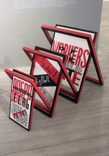 Design for a Folding Stand for Slogans and Posters - Gustav Klucis [Model by Henry Milner], photo by Paul Prudence