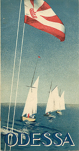 Travel brochure «Odessa» 1933. Published by Intourist.