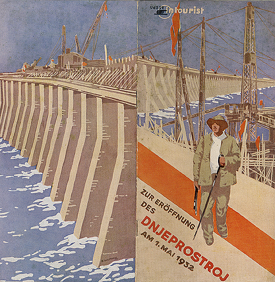 Travel brochure «Zur Erоffnung des Dnjeprostroj am 1.Mai 1932» Published by Intourist.