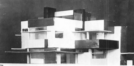 C. van Eesteren Th. van Doesburg, 1923. Model Maison particulière, tentoonstelling exhibition Rosenberg1