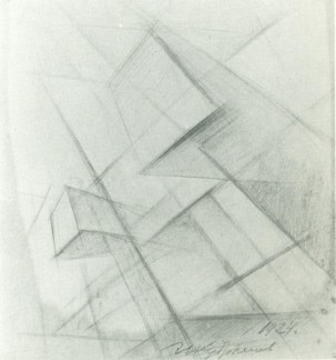 Ivan Kudriashev, untitled 1924, pencil on paper 23.2 x 22