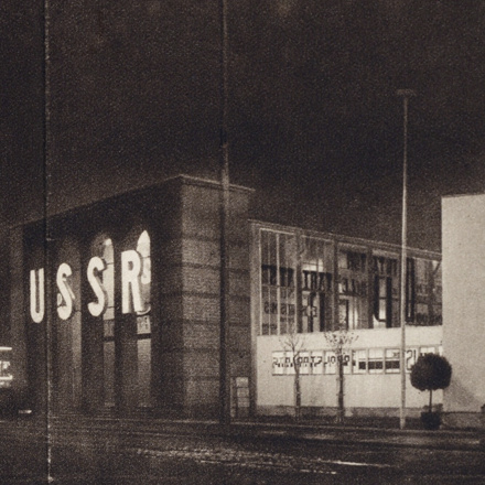 El Lissitzky's Soviet pavilion at the Pressa exhibition in Cologne, 1928