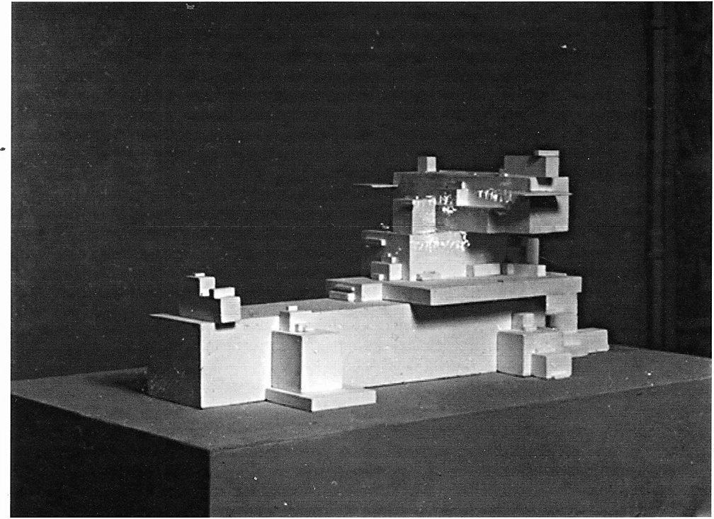 Архитектон бета. Около 1930. Гипс. 27×59,5×99,3 см. Государственный Русский музей, Санкт-Петербург. На пятой выставке «Бубнового валета»2