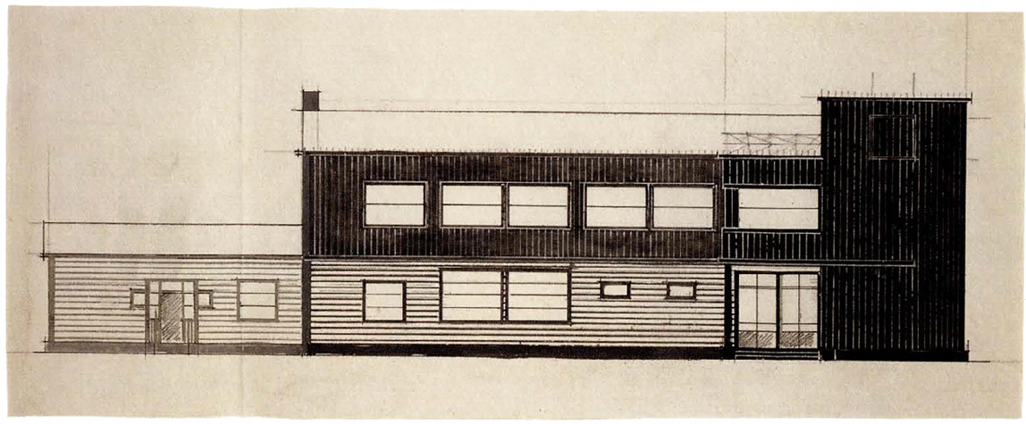 K Kniazev, post and telegraph office, sketches 1924