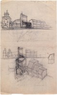 L Slavina, museum of red Moscow, sketches 1924