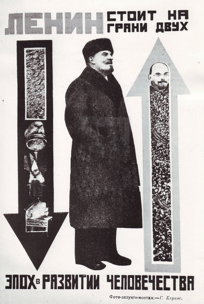 Lenin stands on the precipice between two epochs in human development