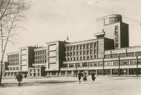 Kirov Palace of Culture on Vasileostrovskii island, designed by Noi Trotskii and S.N. Kazak (1931-1937), photo 1940
