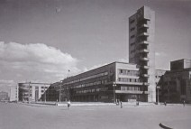 Kirovskii district soviet in Leningrad, designed by Noi Trotskii (1930-1935), photo 1933