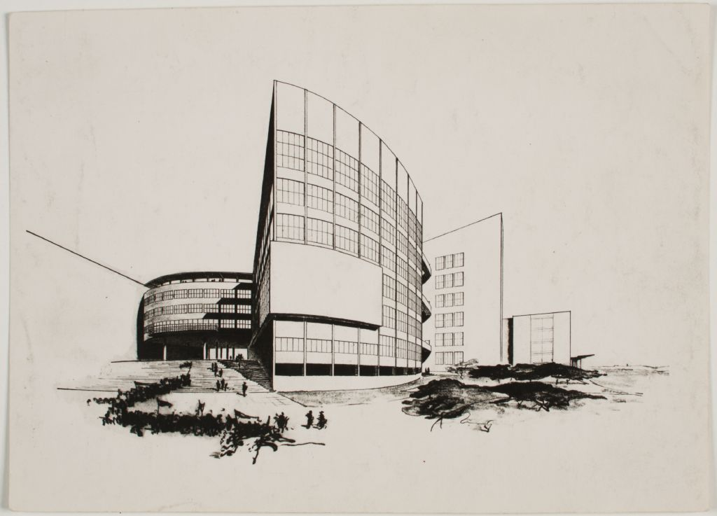 Walter Gropius Competition Entry for Palace of the Soviets, Moscow, 1931- Perspective, c. 1931