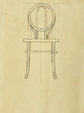 Ontwerp voor een stoel, Café-brasserie en Café-restaurant, Aubette