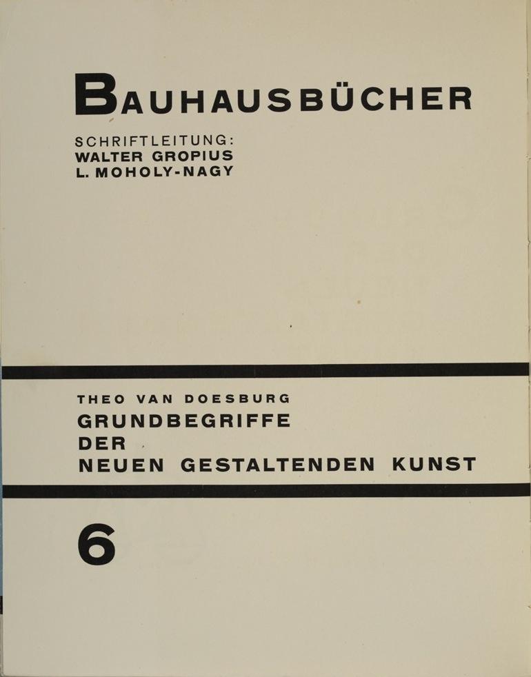 Theo van Doesburg, Grundbegriffe der neuen gestaltenden Kunst. Bd. 6, München 1925%0ATheo van Doesburg, Grundbegriffe der neuen gestaltenden Kunst. Bd. 6, München 1925-4