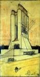 Antonio Sant'Elia, Monumento con lanterne, datato 1912