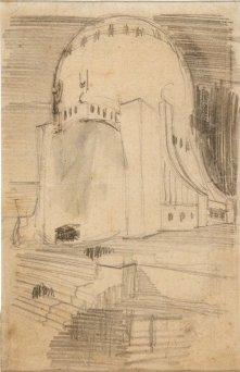 Edificio monumentale con cupola rialzata e scalinate