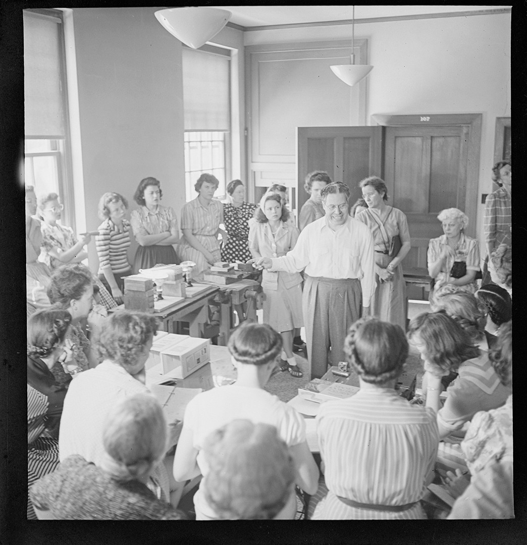 Carlotta Corpron (1901-1988); [Man Teaching a Class]; nitrate negative; Amon Carter Museum of American Art; Fort Worth TX; P1988.18.284