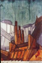 Sant'Elia, Antonio, 1888-1916 Title Power Plant Date 1914 Material ink, pencil and watercolor