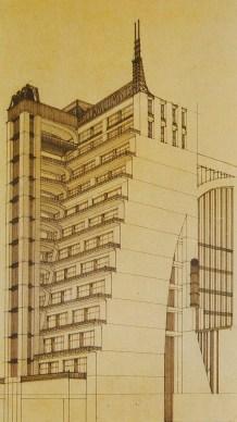 Sant'Elia, Antonio (Italian architect, 1888-1916) Culture Italian Title La Citts Nuova- Casa a Gradinate Work Type Architectural drawing Date 1914