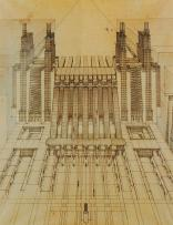 Sant'Elia, Antonio (Italian architect, 1888-1916) Culture Italian Title La Citts Nuova- Central Railway Station and Airport Work Type Architectural drawing Date 1913-1914 Material ink and pencil on paper
