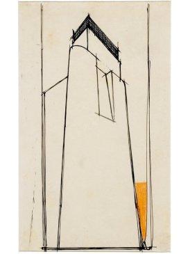 Studio plastico-architettonico per torre con lanterna