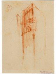 Torre con monofora strombata e edicola pensile