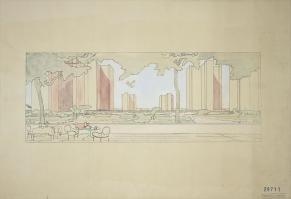 Ville contemporaine de trois millions d'habitants, Sans lieu, 1922