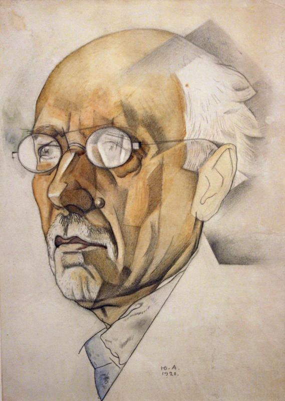 Юрий Анненков %22Портрет Ф.К.Сологуба%22 1921