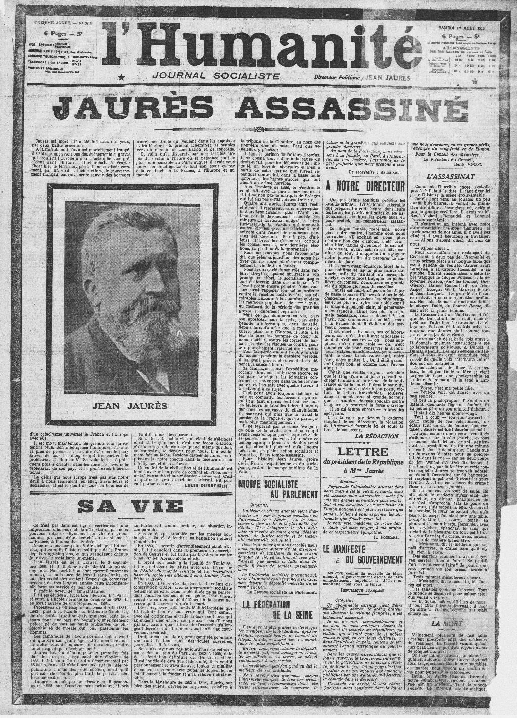 Jean Jaures: brief biography 58