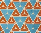 Varvara Stepanova, Circle Points—Teal and Orange, 1923