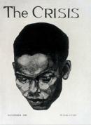 The Crisis, Cover, portrait of a negro man. Aaron Douglas. November 1926