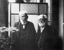 Bernstein and Kautsky together in 1910