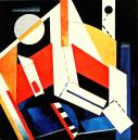 Aleksandra Ekster, Construction, 1922-23 Oil on canvas, 89.8 x 89.2 cm