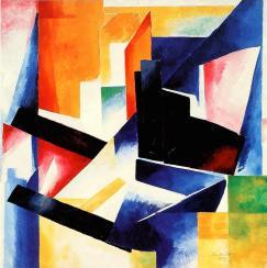 Aleksandra Ekster, Construction of Color Planes. 1921 Oil on canvas, 89 x 89 cm