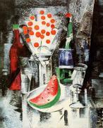 Aleksandra Ekster, Still Life. Bowl of Cherries, 1914 Oil on canvas, 89 x 72 cm
