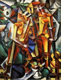 Liubov Popova, Composition with Figures, 1913 Oil on canvas. 160 x 124.3 cm