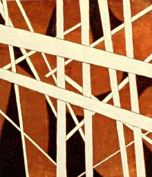 Liubov Popova, Spatial-Force Construction, 1921 Oil with marble dust on plywood, 71 x 64 cm